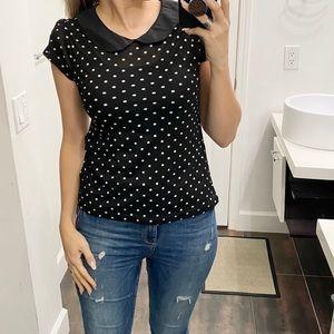 Julie's Closet polka dot top. Size L